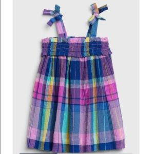 NWT 3-6 month GAP baby plaid tied dress girl